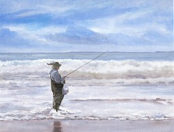 Fisherman in Wales